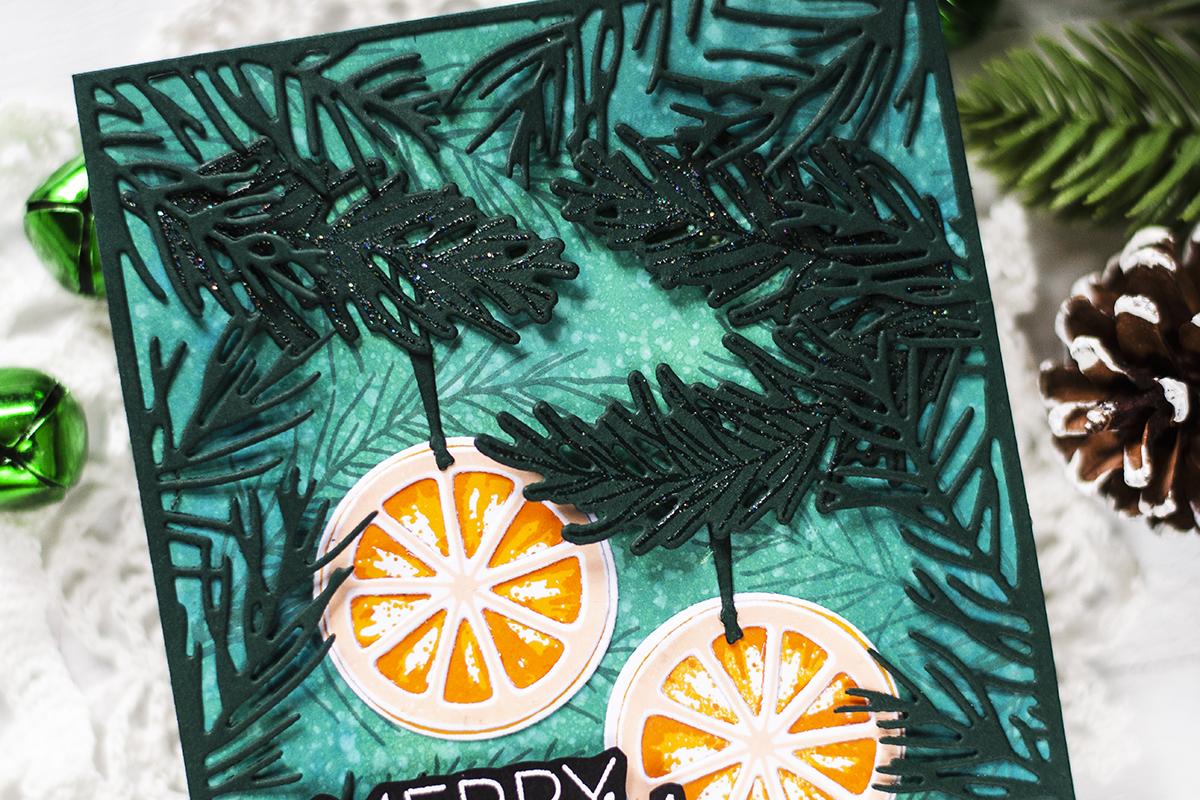Orange Slices Christmas Tree Ornaments. Card by Svitlana Shayevich