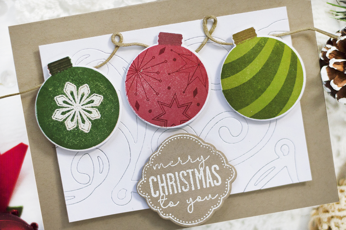 Christmas Ornaments Card. Card by Svitlana Shayevich