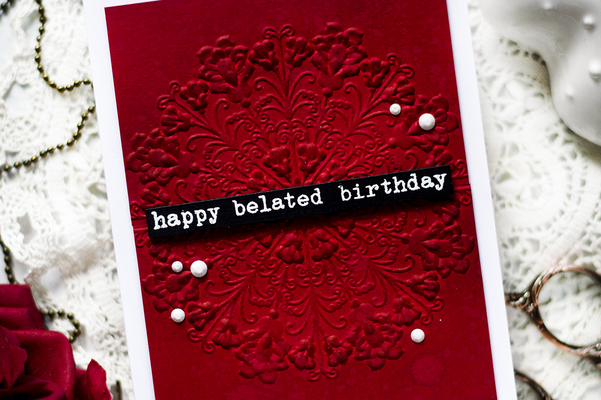 Dramatic Embossed Background. Card by Svitlana Shayevich