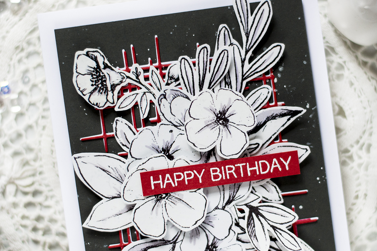 Easy Bold Floral Card. Card by Svitlana Shayevich