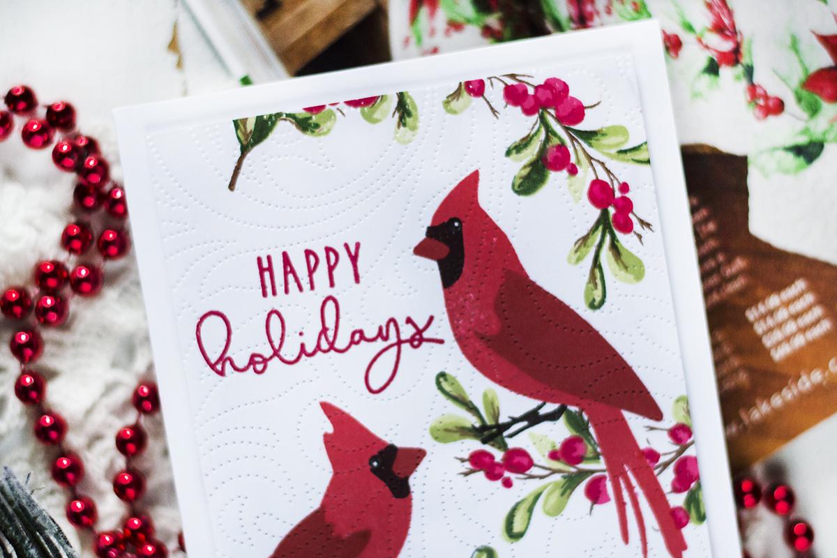 Bedding Inspired Christmas Card. Card by Svitlana Shayevich