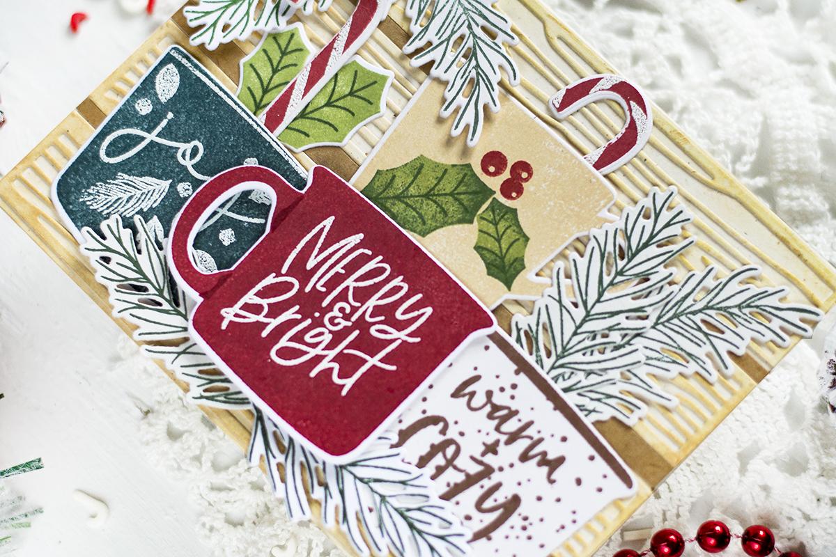 Christmas Mugs Holiday Card. Card by Svitlana Shayevich