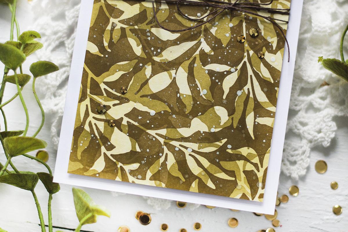 Layered Masking Leafy Background. Card by Svitlana Shayevich