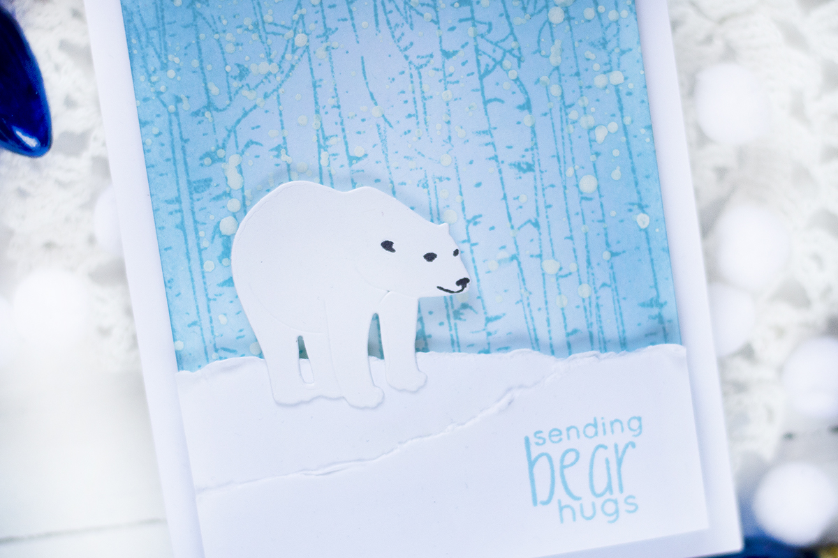 Polar Bear Winter Card. Card by Svitlana Shayevich
