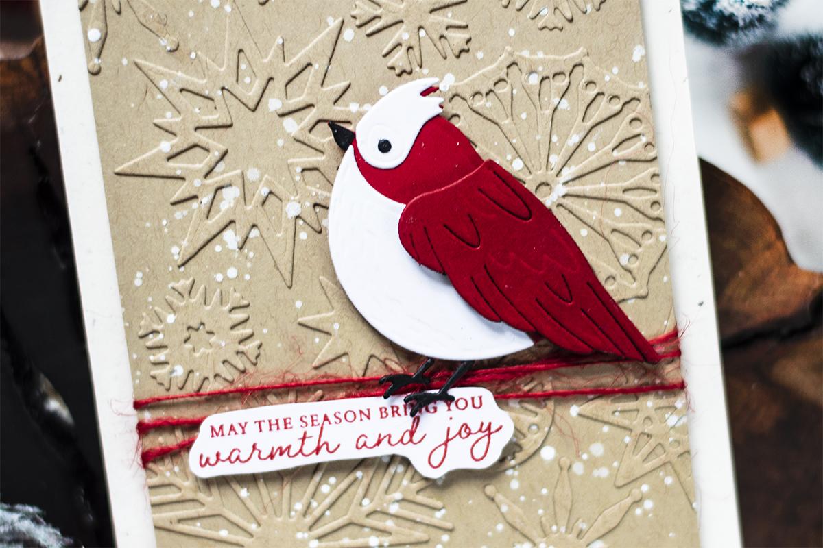 Kraft Snowflakes Background Card. Card by Svitlana Shayevich
