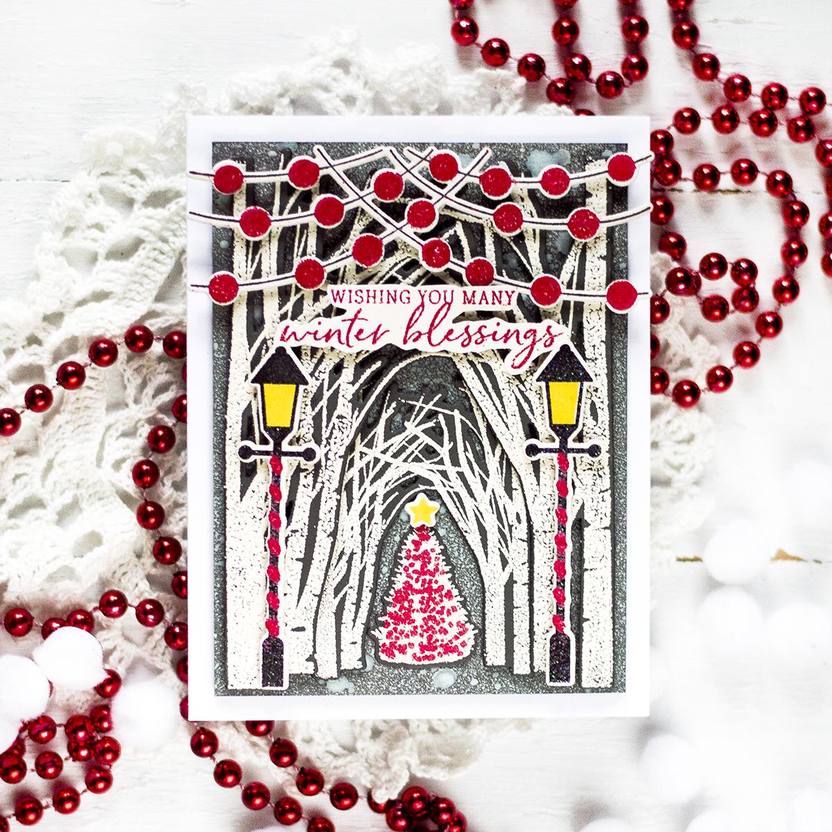 Winter Woodland Holiday Card. Card by Svitlana Shayevich