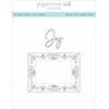 Papertrey Ink / Ink To Paper Border Bling: Joy Frame Die Set