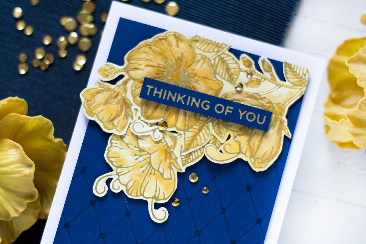Luxe Hot Foiled Handmade Card. Card by Svitlana Shayevich