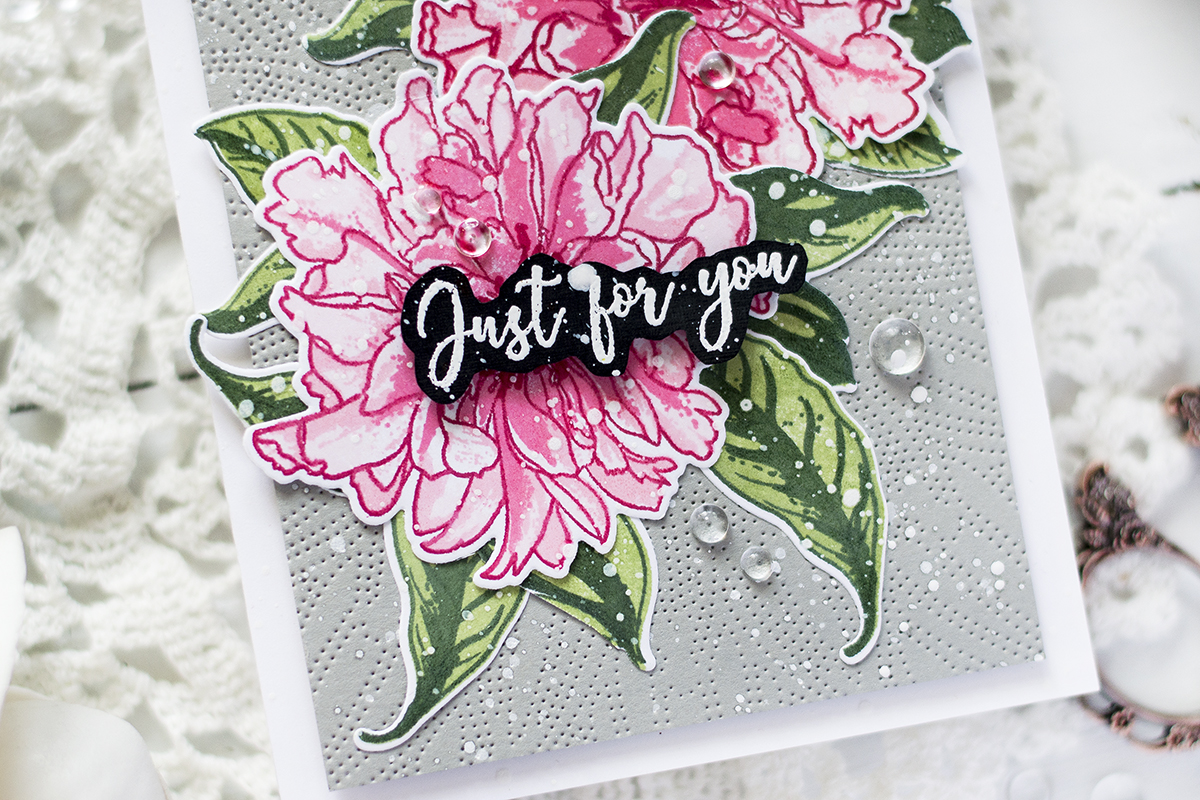 Quick And Simple Peony Card. Card by Svitlana Shayevich