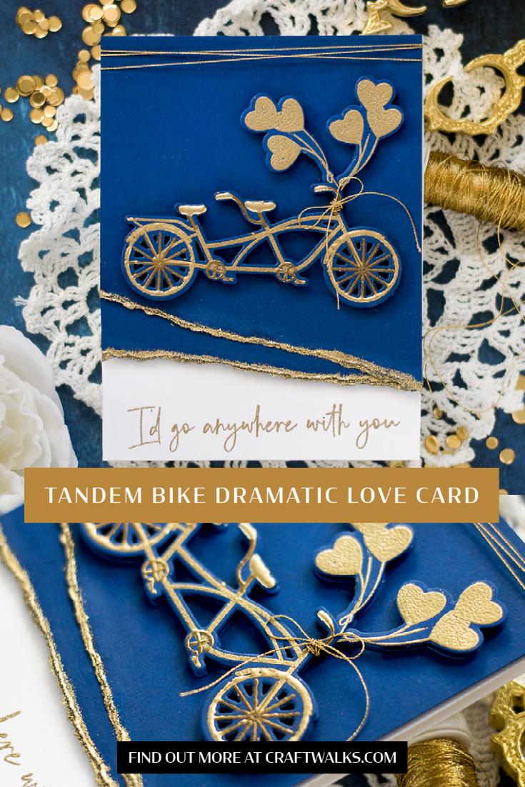 Tandem Bike Dramatic Love Card. Card by Svitlana Shayevich