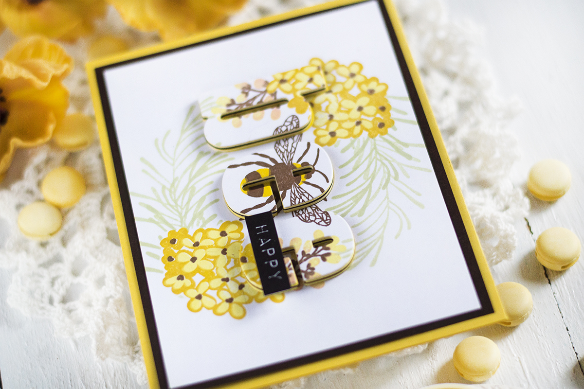 Hiden Sentiment Bee Happy Card. Card by Svitlana Shayevich