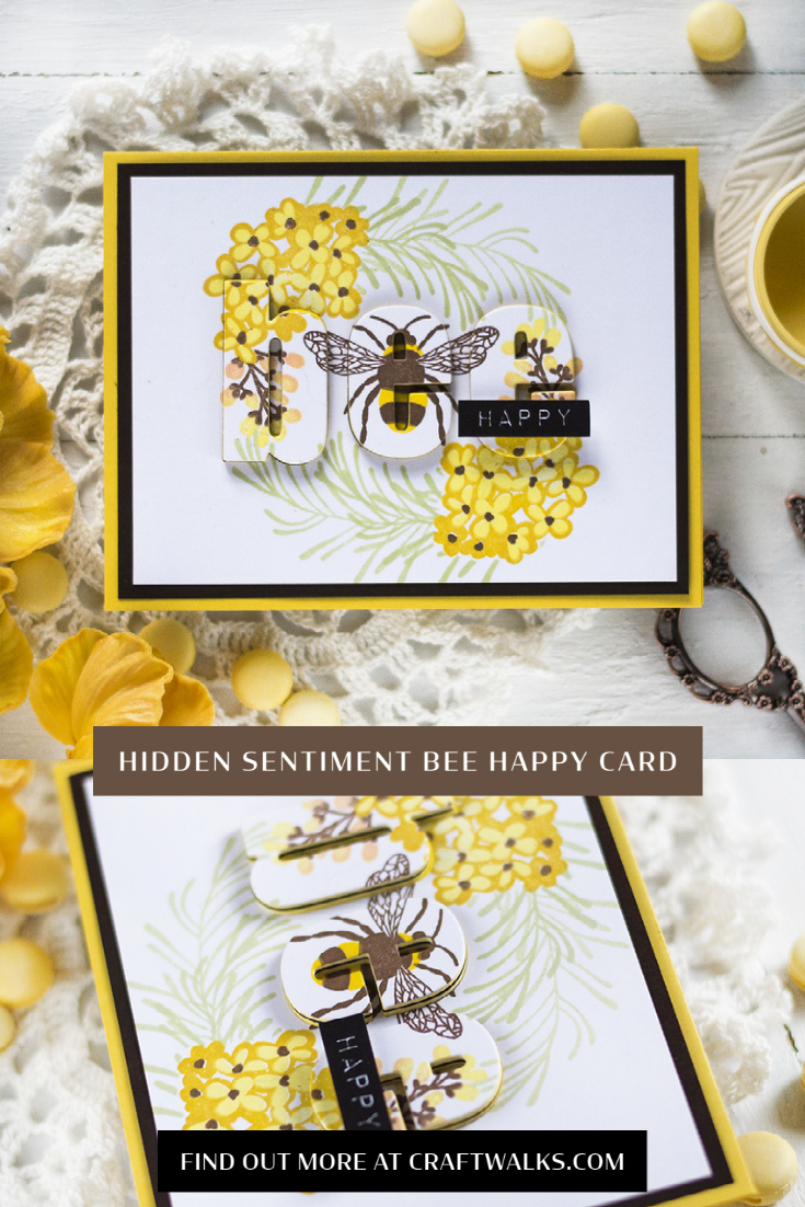 Hidden Sentiment Bee Happy Card. Card by Svitlana Shayevich
