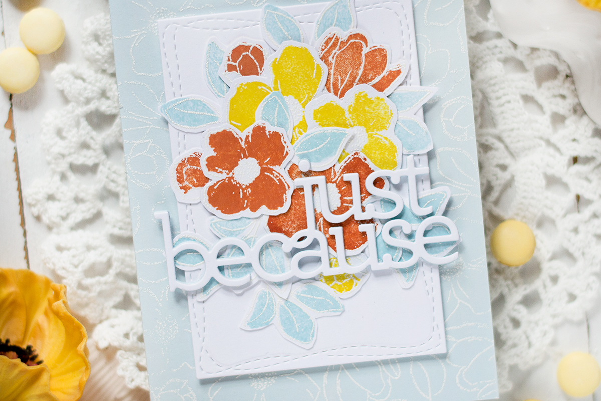 Easy Soft Floral Card. Card by Svitlana Shayevich