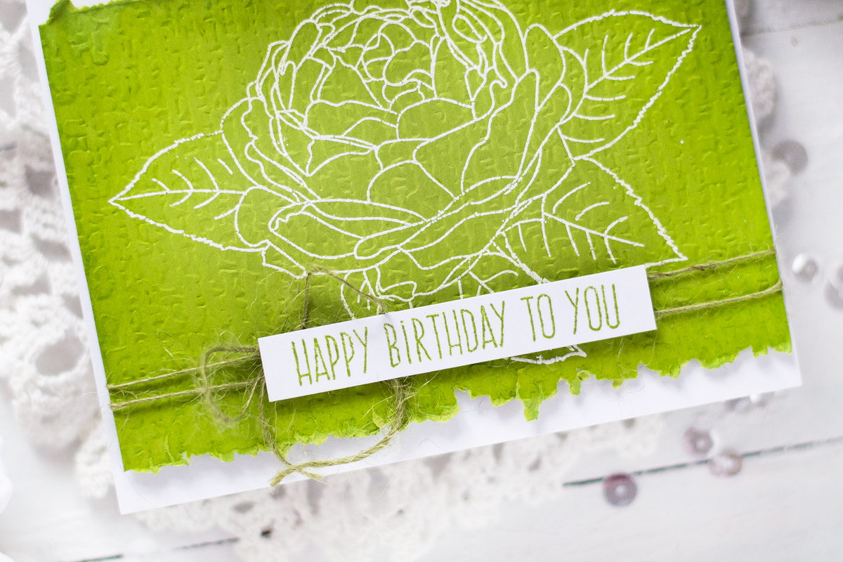 Faux Embroidery On Linen Background Card. Card by Svitlana Shayevich