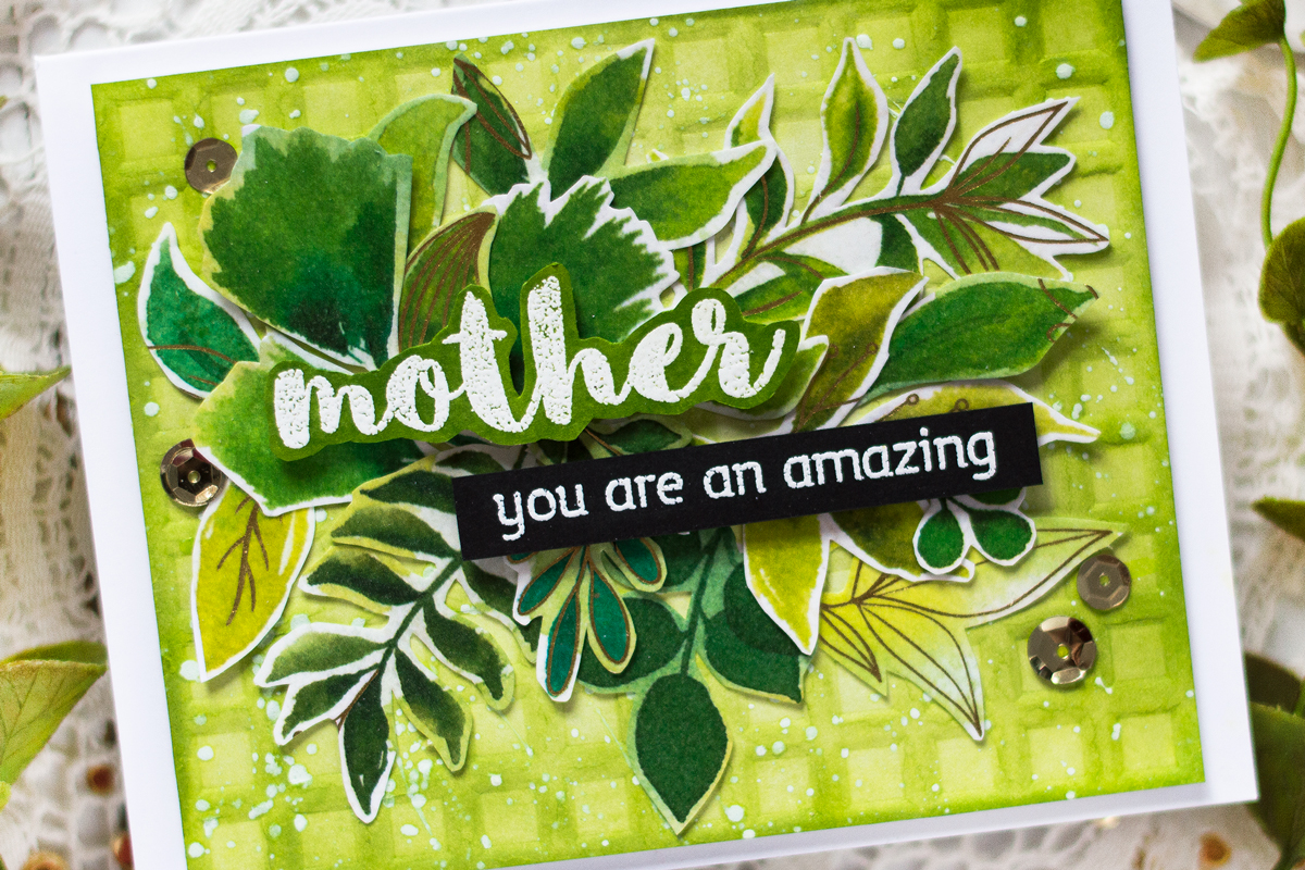 Monochromatic Mothers Day Card. Card by Svitlana Shayevich