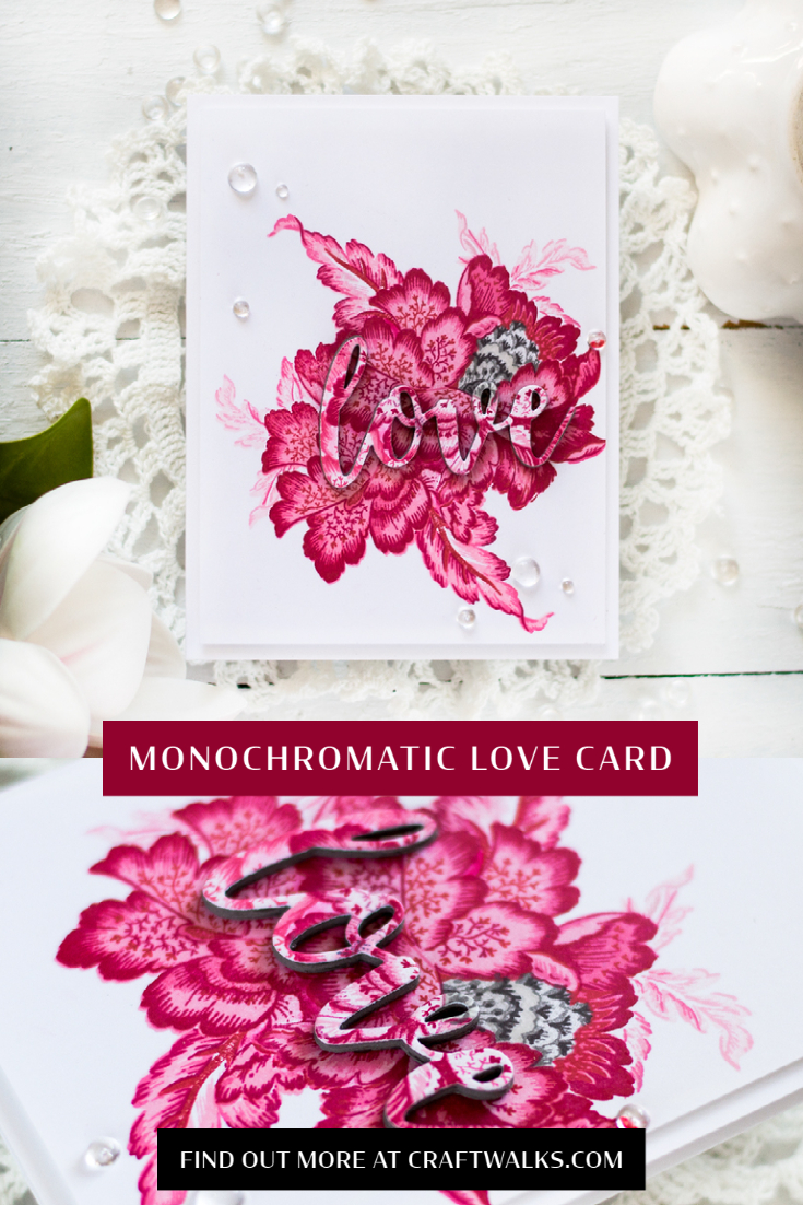 Monochromatic Love Card. Card by Svitlana Shayevich