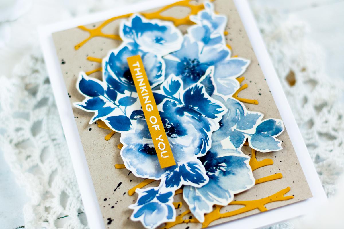 Easy Thinking Of You Card. Card by Svitlana Shayevich