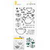 Altenew Tea For Two Stamp & Die & Coloring Stencil Bundle