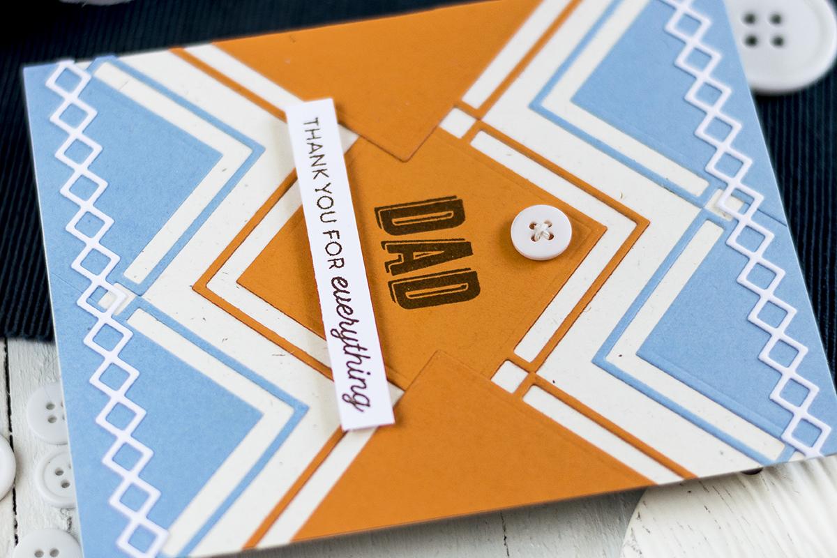 Geometric Father's Day Card. Card by Svitlana Shayevich