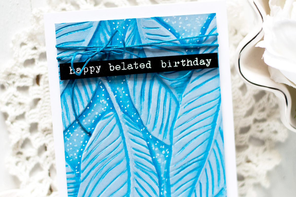 Banana Leaves Embossed Background. Card by Svitlana Shayevich