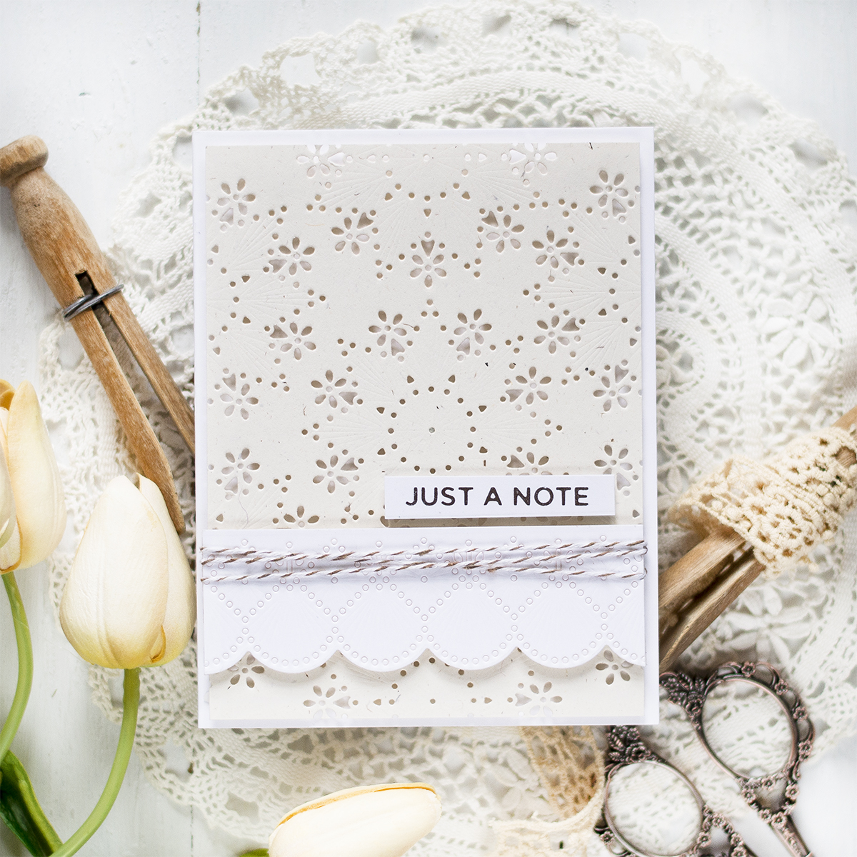 Using Holiday Dies for a Non Holiday Card. Card by Svitlana Shayevich