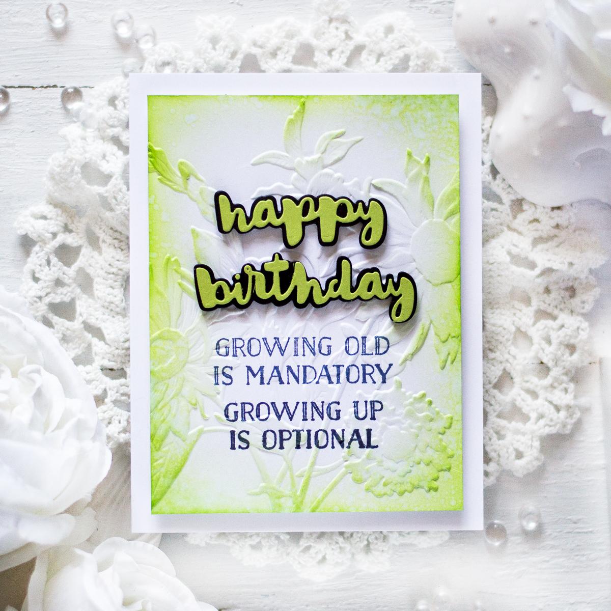 Easy Soft Birthday Card. Card by Svitlana Shayevich