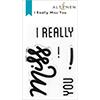Altenew I Really Miss You Stamp Set