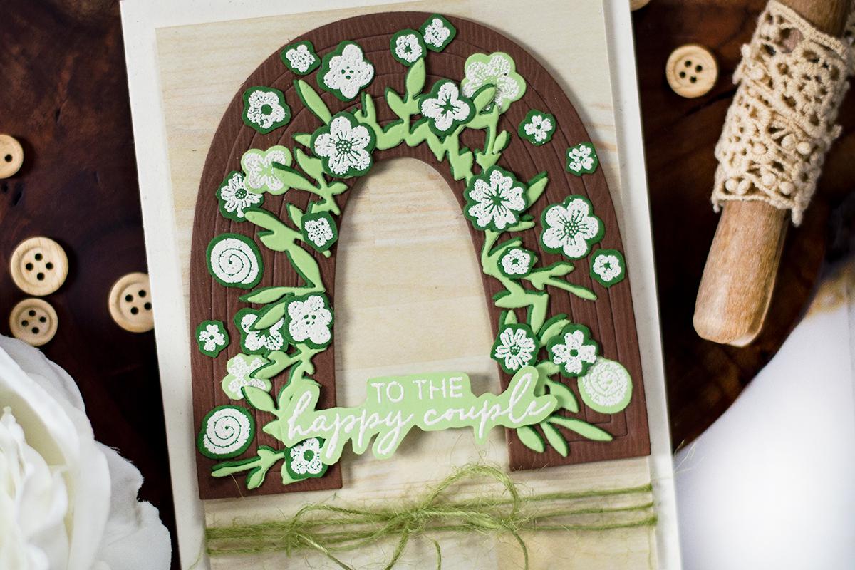 Floral Arc Rustic Wedding Card. Card by Svitlana Shayevich