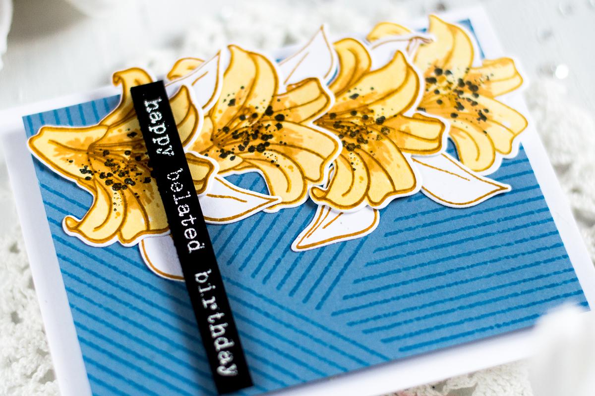 Lily Flowers Birthday Card. Card by Svitlana Shayevich