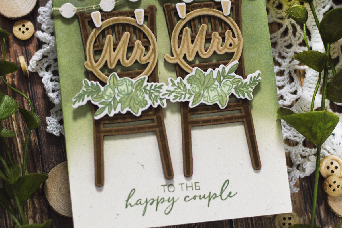 Mr & Mrs Chairs Rustic Wedding Card. Card by Svitlana Shayevich