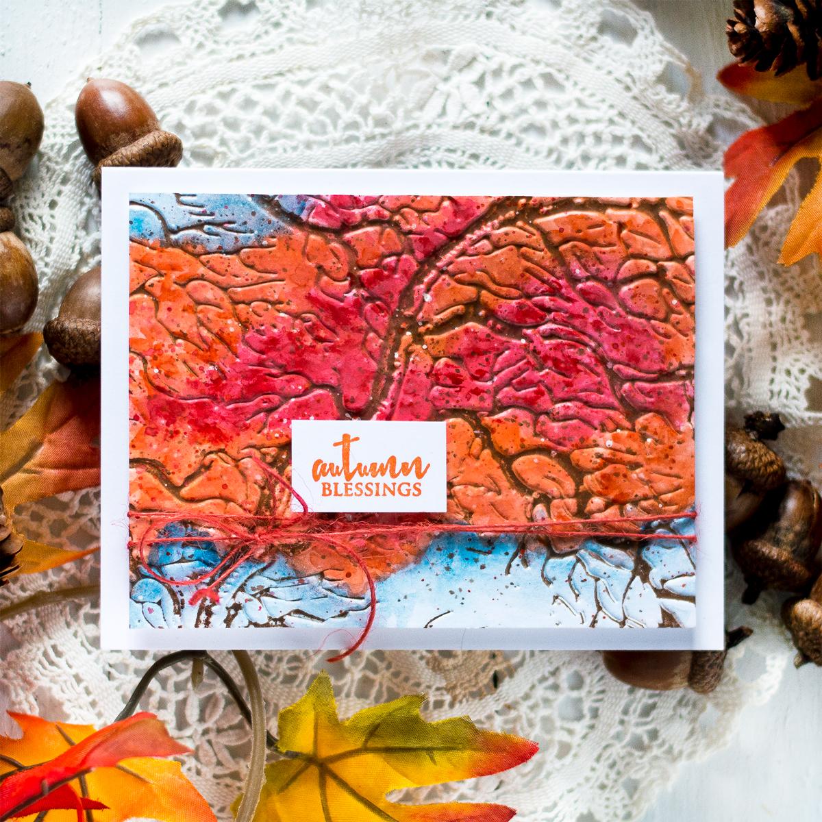 Watercolored Authumn Tree Card. Card by Svitlana Shayevich