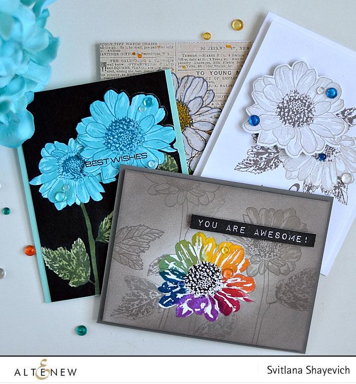 Altenew Spring Daisy focus. @s_shayevich #card #cardmaking #diy #papercrafts #handmade #altenew
