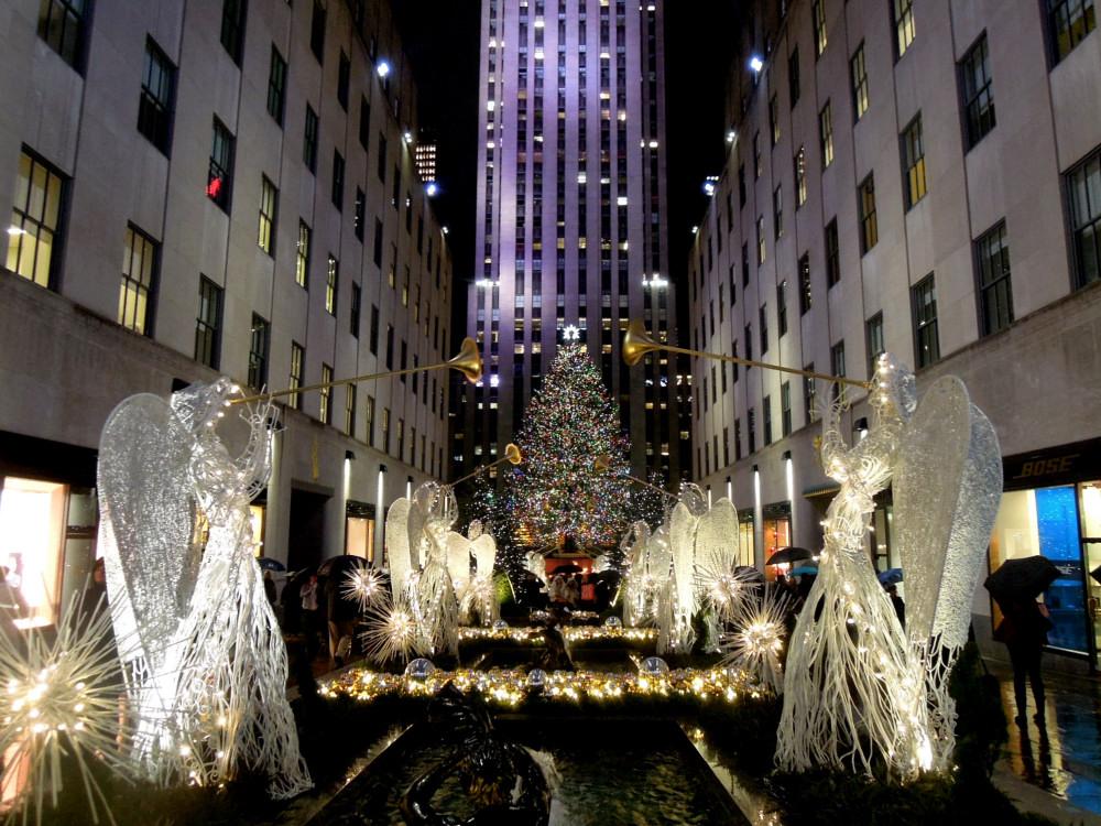 City Walks, Christmas in New York 2016. part 5. Rockefeller Center Tree