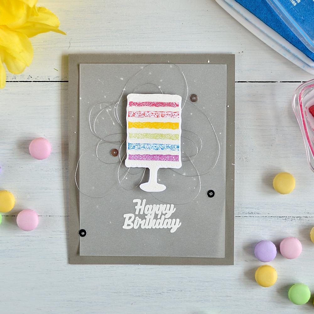 Rainbow cake. Card by @s_shayevich