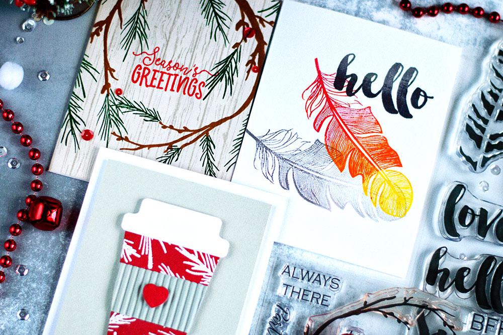 Altenew November 2017 Release. Cards by @craftwalks