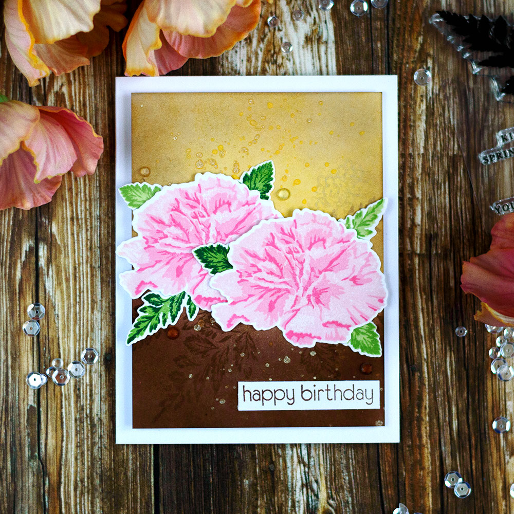 Altenew Build-A-Flower Carnation. Card by @craftwalks