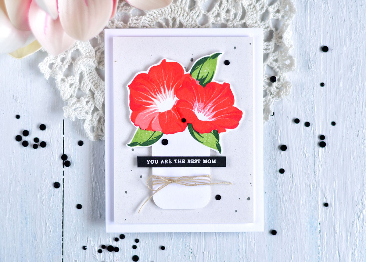 Altenew Build-A-Flower Morning Glory. Card by @craftwalks. #card #altenew #cardmaking #papercrafts #handmadecard #mothersday #mothersdaycard
