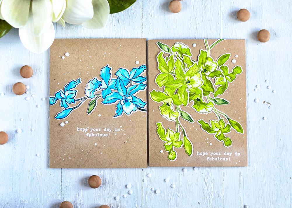 Altenew Build-A-Flower: Cattleya. Cards by Svitlana Shayevich