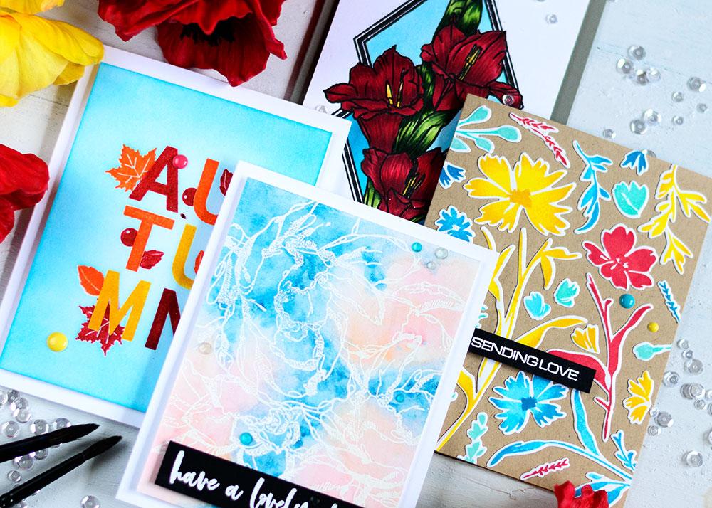 Altenew August Release Blog Hop. Cards by Svitlana Shayevich