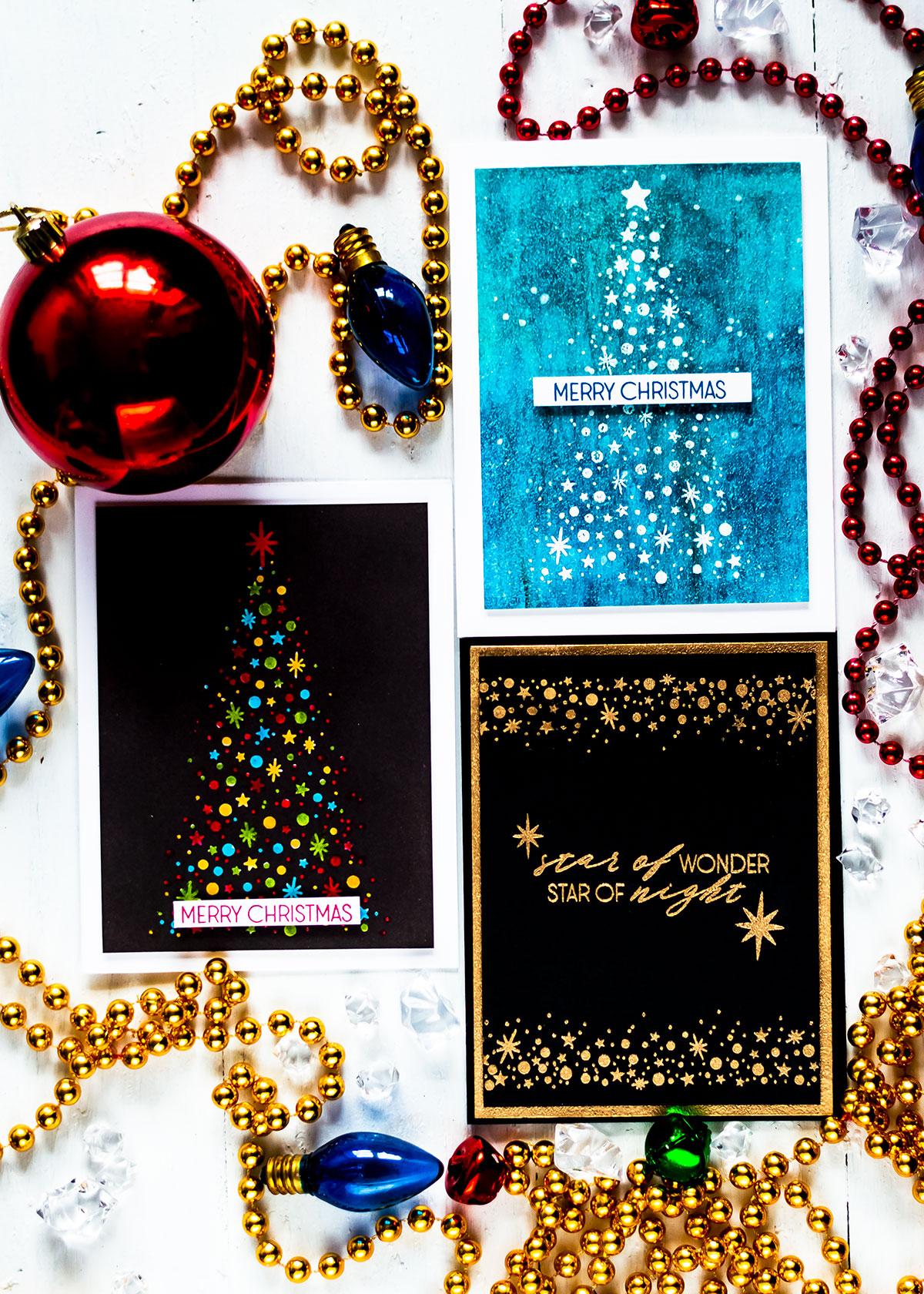 Altenew Starry Night. Cards by Svitlana Shayevich