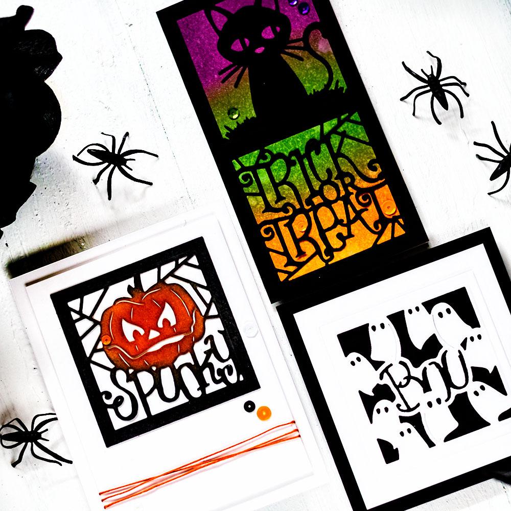 Spellbinders September Large Die Of The Month - 3 Halloween cards