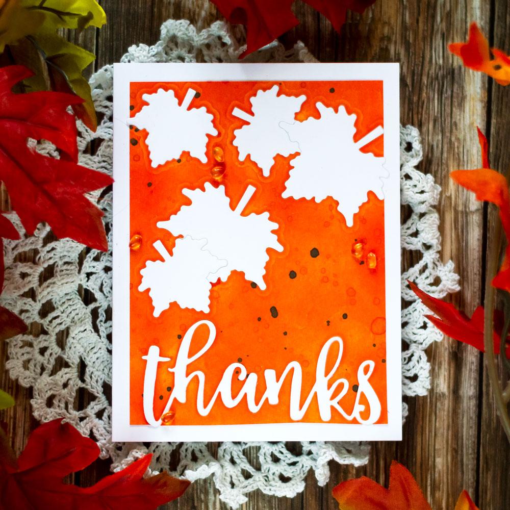 Altenew With Gratitude. Fall card, die-cut inlay. Card by Svitlana Shayevich