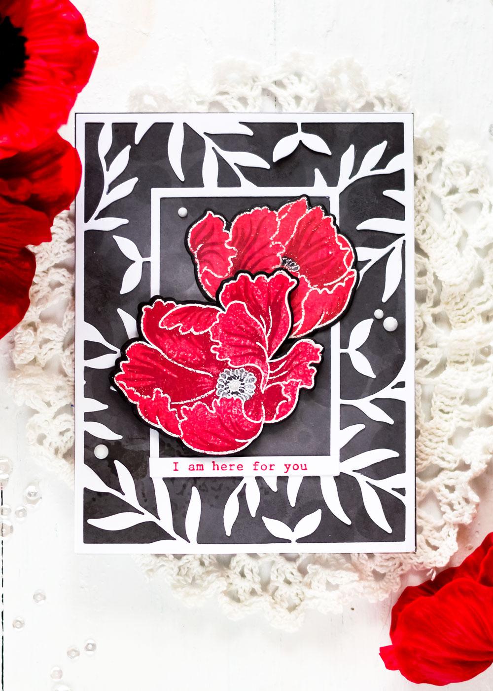 Altenew Build-A-Flower Poppy